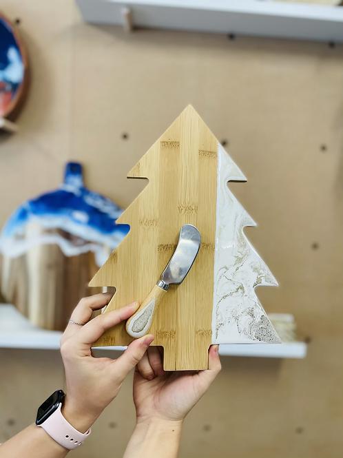 Resin Tree Board & cheese knife