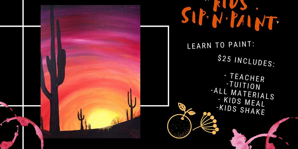 Kids Sip'n'paint - Kids Meal + Shake + Art Class