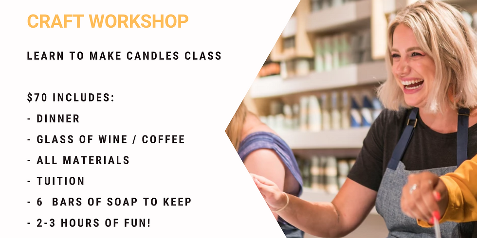 Grab a glass of wine and learn to make candles!