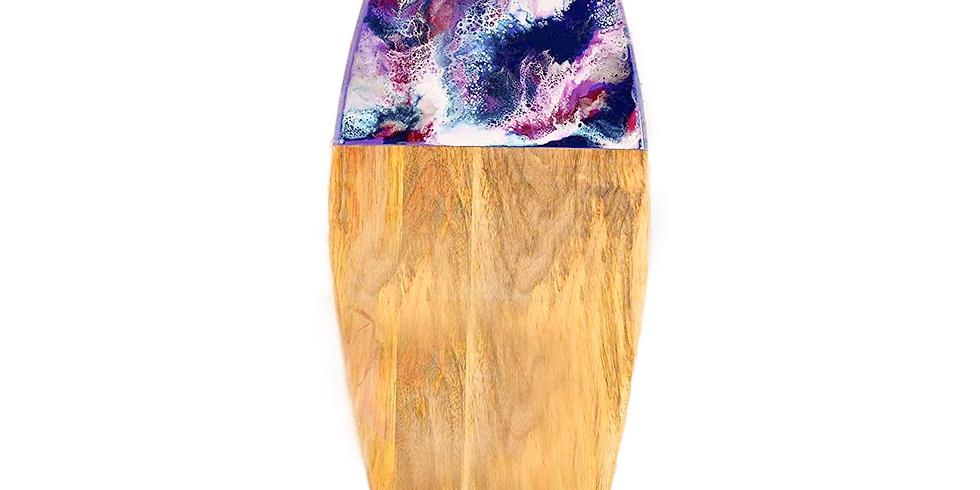 PROCEEDING - GOODNA - STUDIO - Learn to make a resin large mango wood board
