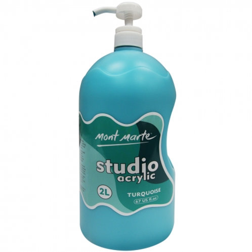 Acrylic 2L Pump - Turquoise