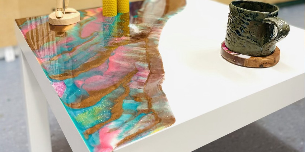 GOODNA - STUDIO - Learn to pour a resin side table