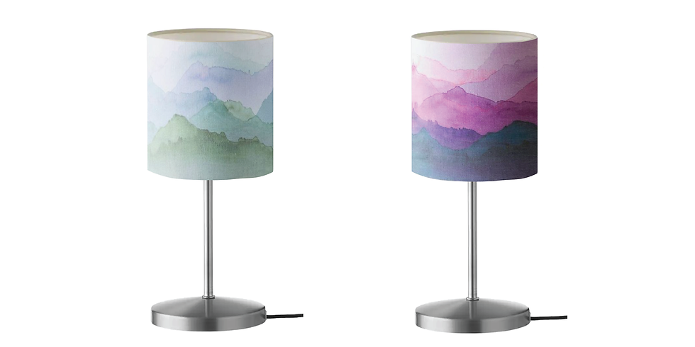 SPRINGFIELD - ORION - Learn to paint watercolour lamps (price includes lamp and lampshade)