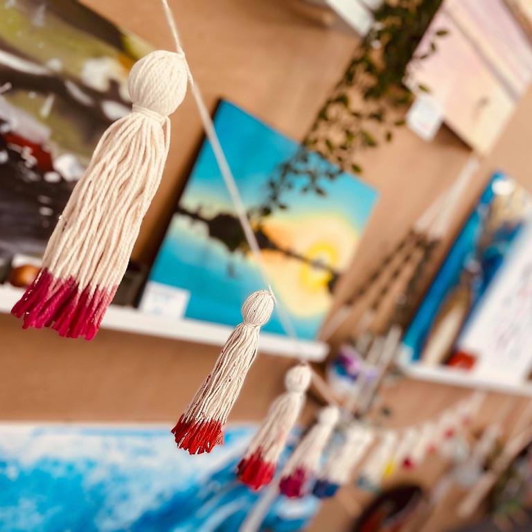 SCHOOL HOLIDAYS - Learn to make a dip dyed tassel gardland