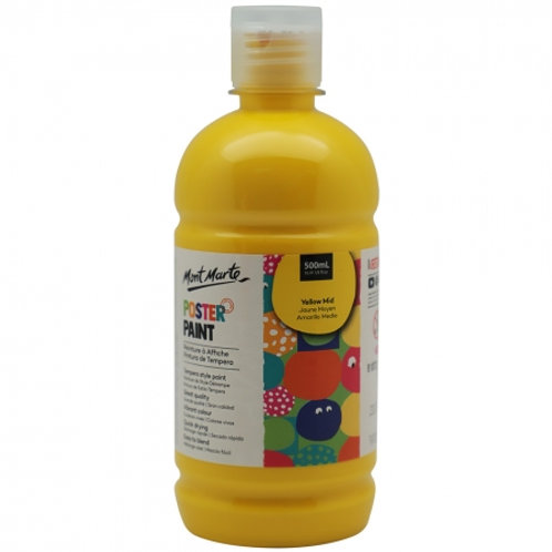 MM Poster Paint 500ml - Yellow Mid (6 pack)