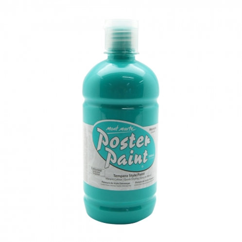 MM Poster Paint 500ml - Turquoise (6 pack)