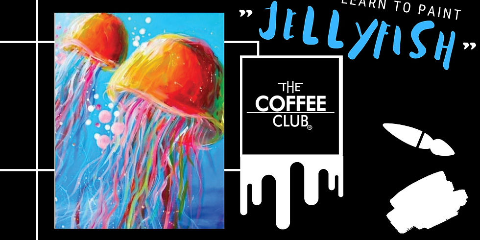 Grab a glass of wine and learn to paint Jellyfish!