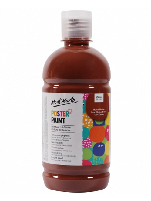 Poster Paint 500ml - Burnt Umber