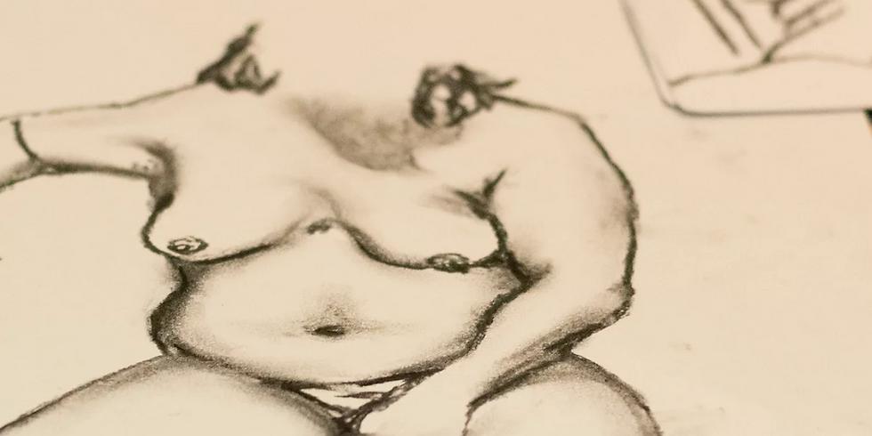 GOODNA - Nude Charcoal Still Life Class