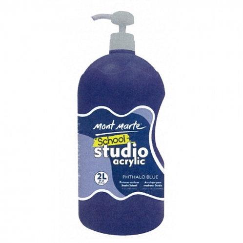 Acrylic 2L Pump - Phthalo Blue