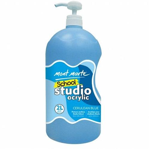 Acrylic 2L Pump - Cerulean Blue