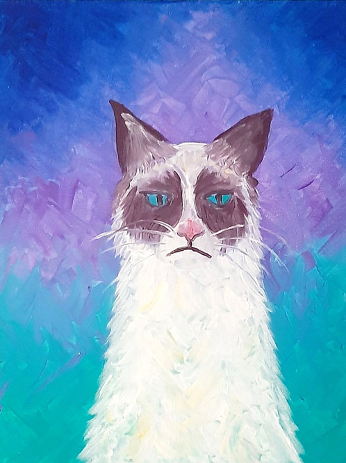 Learn to paint Grumpy Cat 'Paint at home Pack'