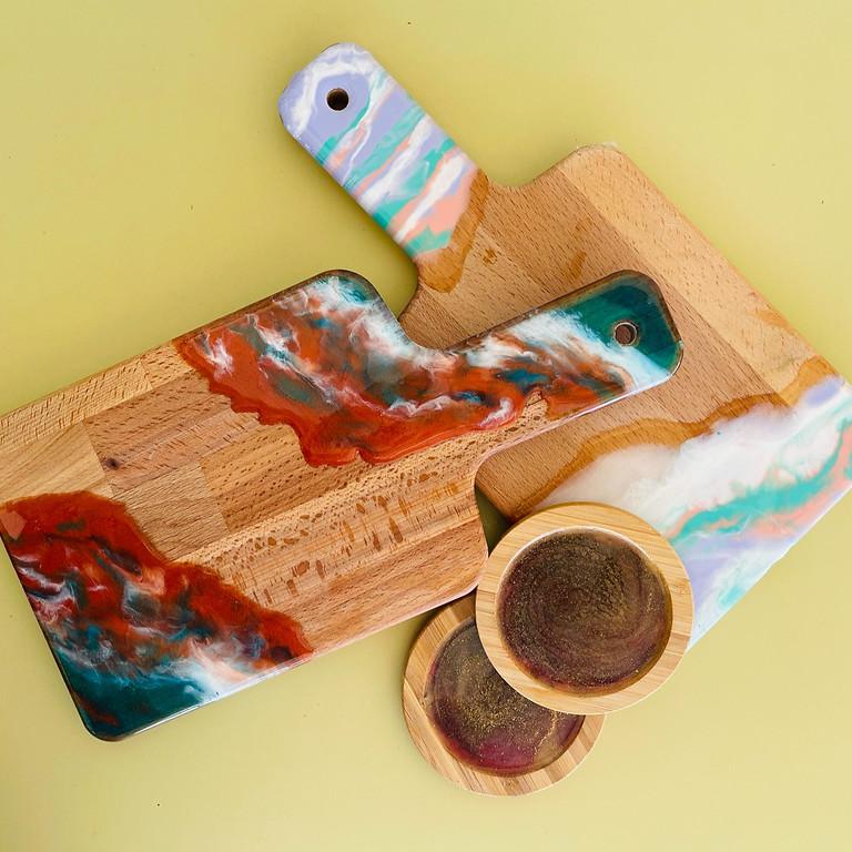 Wacol - Wolston Park Golf Club - Snack Paddle Board +2 Coasters