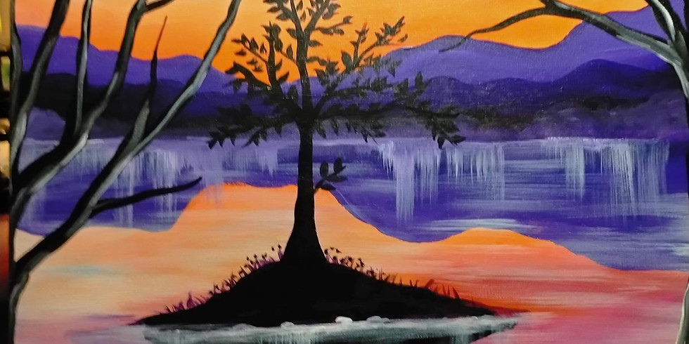 Colleges Crossing - Late Afternoon Picnic 'n' Paint - Learn to paint 'Afternoon Sunset'