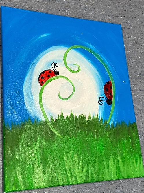 Learn to paint 'Lady Bugs' - Tutorial Only