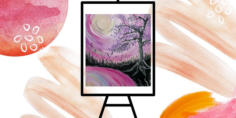 STUDIO - Community Learn to Paint - Learn to paint 'Jacaranda'