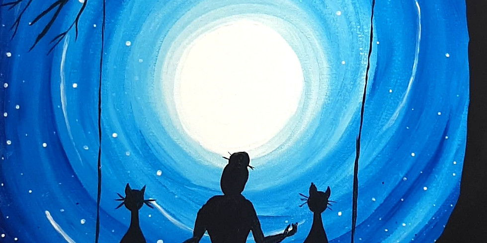 SPRINGFIELD - Grab a glass of wine and learn to paint 'Moonrise'