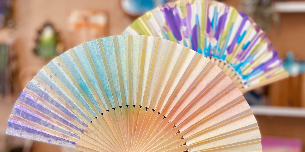 CANCELLED - SCHOOL HOLIDAYS - FREE KIDS ACTIVITIES MARBURG - Decorate an Alcohol Ink Fan