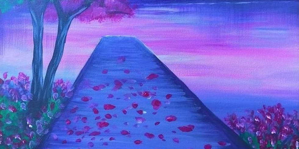 SPRINGFIELD - Orion - Learn to Paint- 'Jacaranda Wharf'