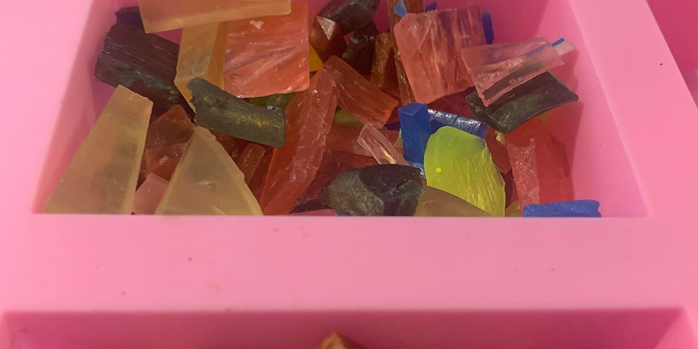 All Ages School Holiday Workshop - Learn to make 3 bars of kelidascope soap