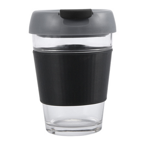 Grey Glass Travel Cup