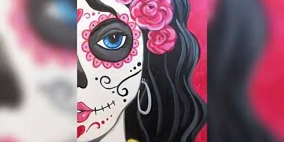 VIRTUAL CLASS - Sip 'n' learn to paint 'Candy Skulls 2.0'!