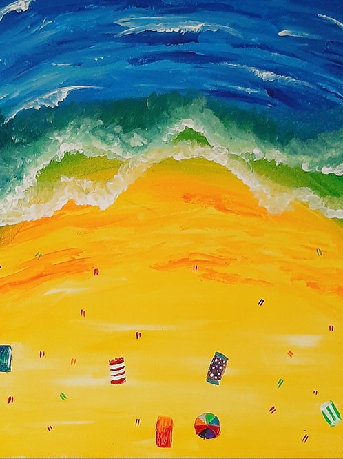 Learn to paint Beach 'Paint at home Pack