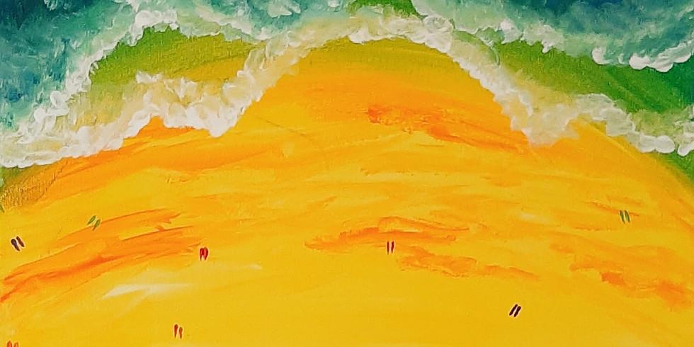 VIRTUAL CLASS - Sip 'n' learn to paint 'Beach'