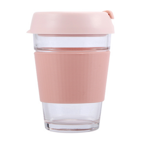 Pink Glass Travel Cup