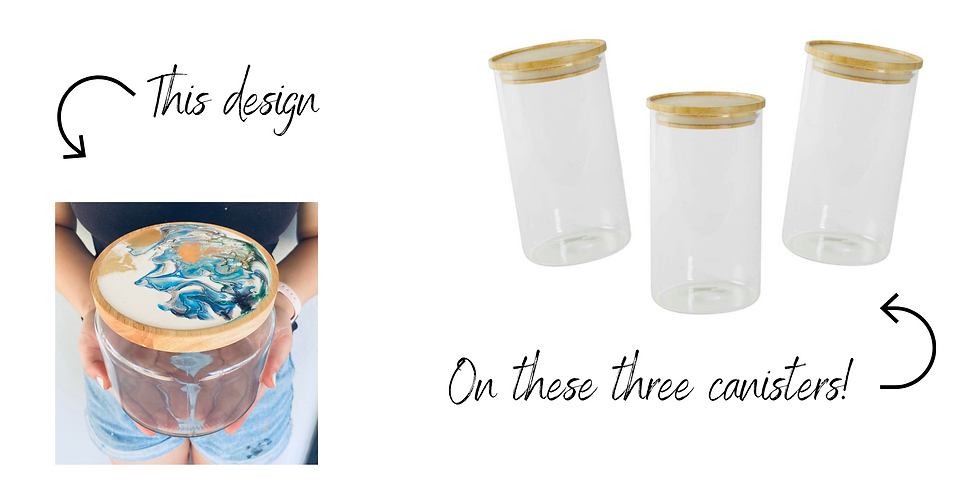 (P) GOODNA - STUDIO - Resin - design 3 bamboo + glass canisters