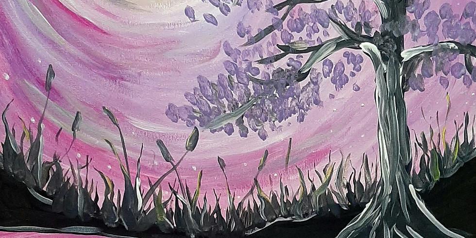 INDOOROOPILLY - Learn to paint 'Jacaranda Sunset'