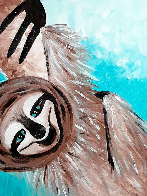 Learn to paint Slothy 'Paint at home Pack