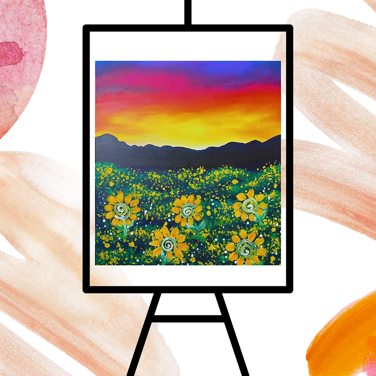 STUDIO - Community Learn to Paint - Learn to paint 'Sunflowers'