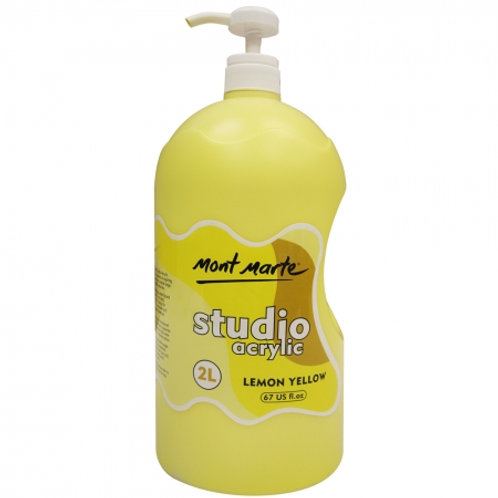 Acrylic 2L Pump - Lemon Yellow