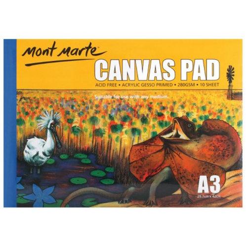 Mont Marte Canvas Pad 10 Sheet A3 (12 pack)
