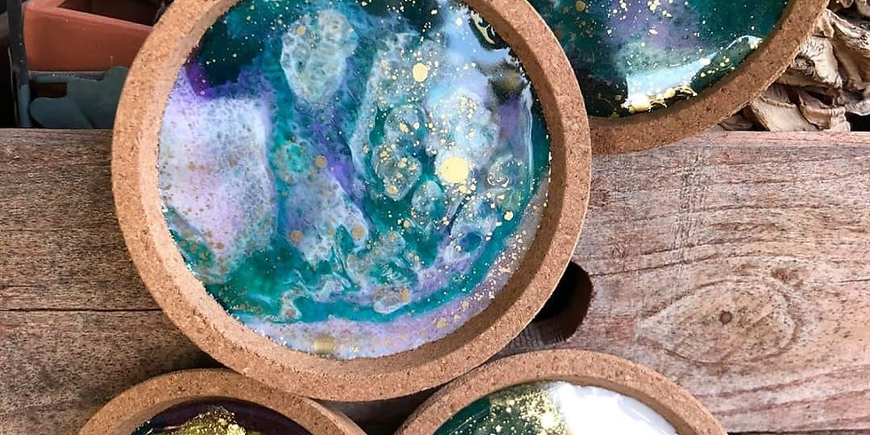 Wolston Farmhouse - Learn to make resin coasters