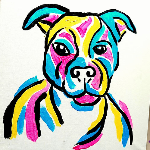 Learn to paint 'Fido' - Tutorial Only