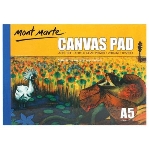 Mont Marte Canvas Pad 10 Sheet A5 (12 pack)