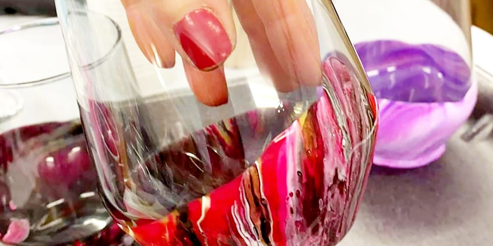 SPRINGFIELD - Learn to make 4 marbelled stemless wine glasses