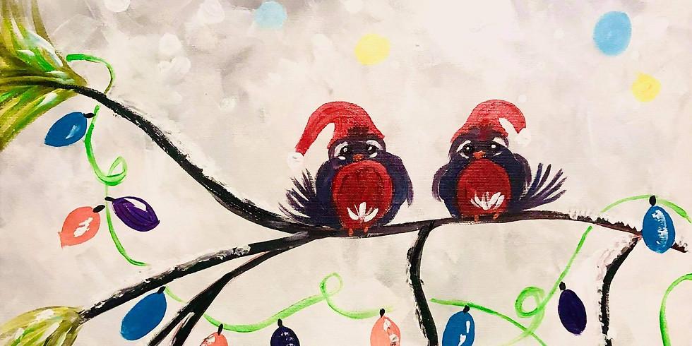 REDBANK PLAINS - ARIZONA CAFE - Learn to paint 'xmas birds'