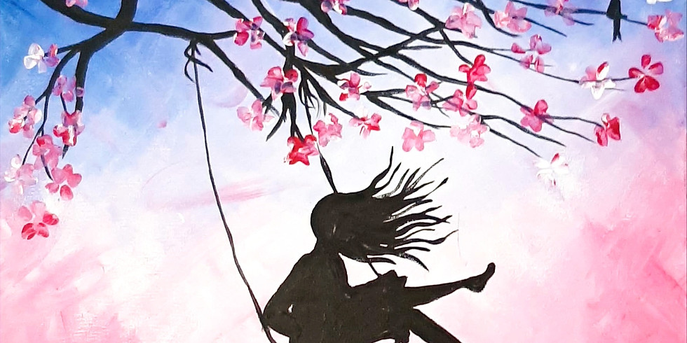 VIRTUAL CLASS - Sip 'n' learn to paint 'Spring Swing'