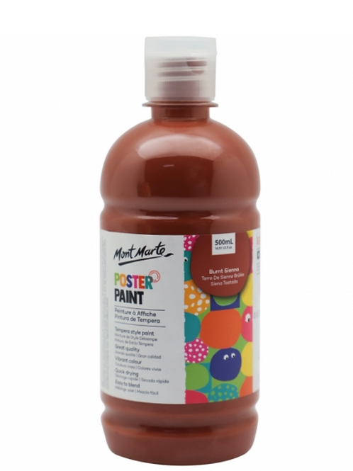 Poster Paint 500ml - Burnt Sienna