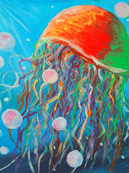 Learn to paint 'Jellyfish' Tutorial Only