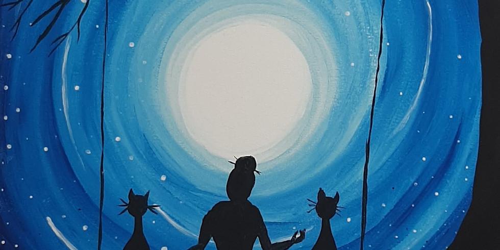 WACOL - Wolston Farmhouse - Learn to paint 'Moonrise'