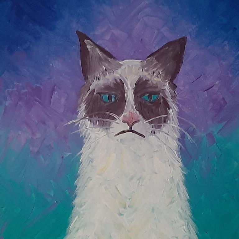 STUDIO - Learn to paint 'Grumpy Cat'