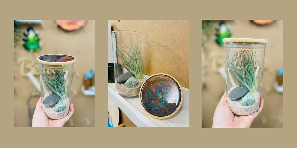 GOODNA - STUDIO - Learn to make a resin topped, crystal air plant terrarium