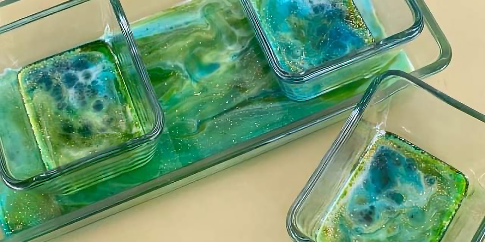 TOOWOOMBA - Learn to sip and resin with us - Pigmented ink and resin condiment trays (4 trays)