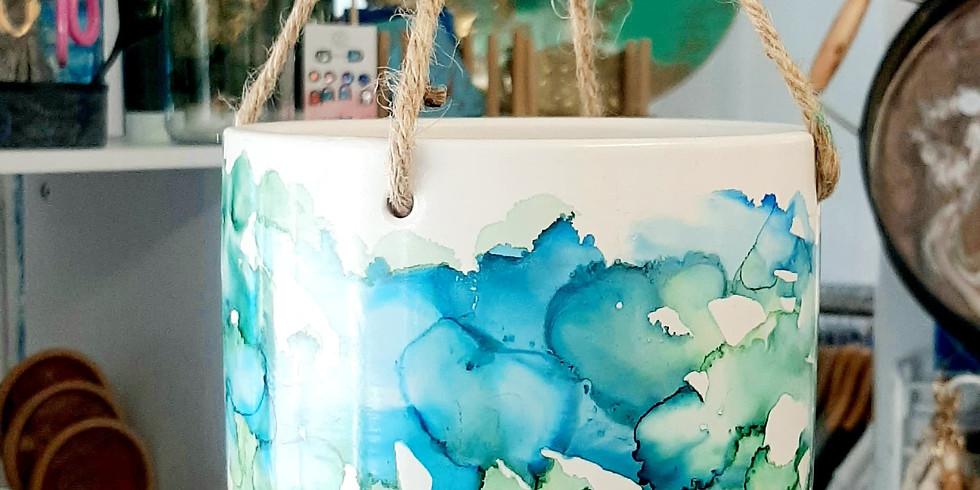 PROCEEDING - LOGANHOLME - Learn to make 2x Ink art hanging pots!