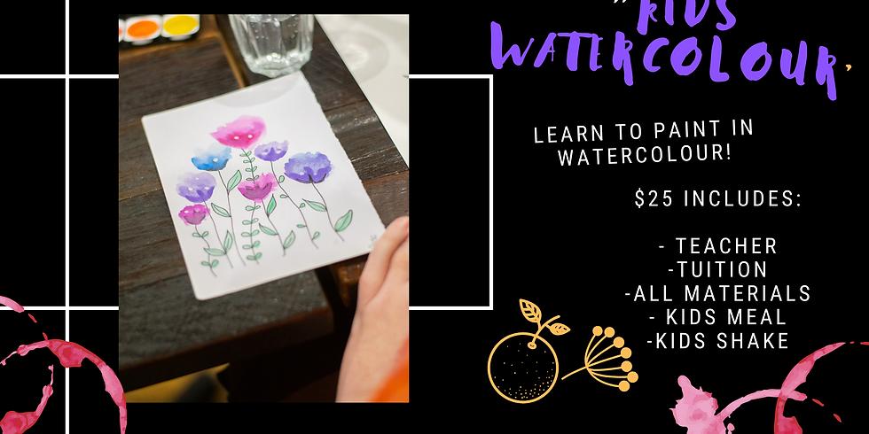 Kids Watercolour Flower Painting Class
