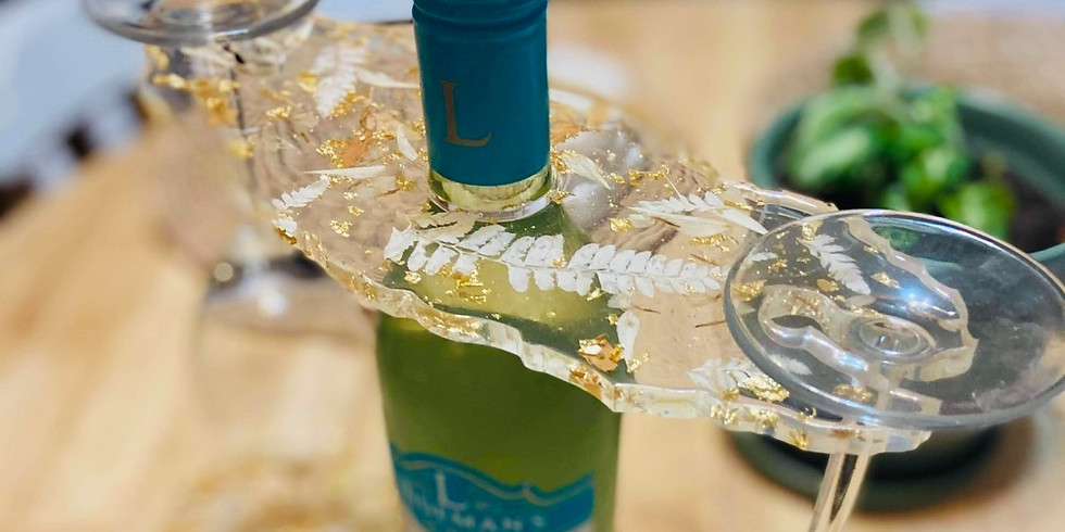 GOODNA - Learn to make resin cast a wine bottle glass holder & 2 coasters